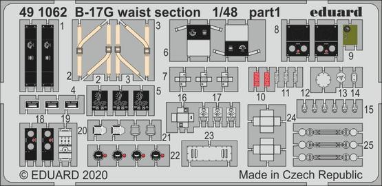 B-17G waist section 1/48  - 1