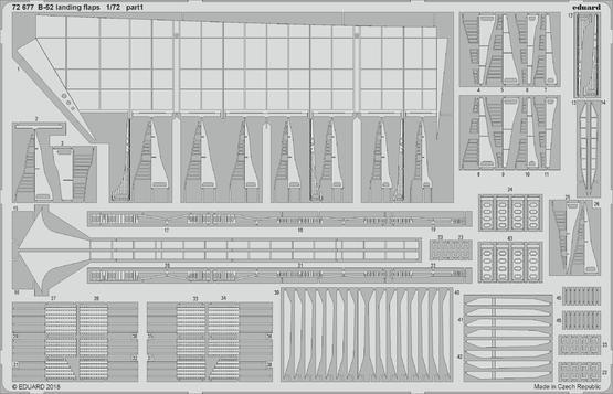 B-52 vztlakové klapky 1/72  - 1