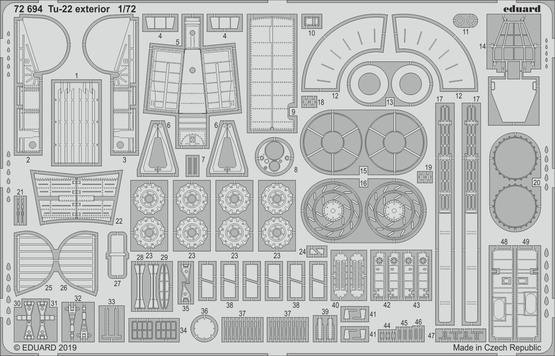 Tu-22 exteriér 1/72
