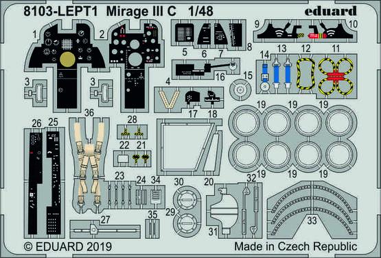 Mirage III C  PE-set 1/48