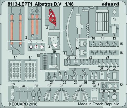 Albatros D.V травление 1/48