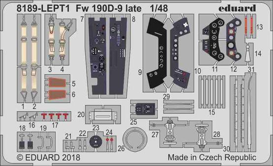 Fw 190D-9 late PE-set 1/48