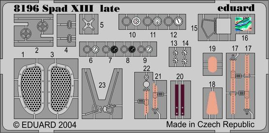 SPAD XIII pozdní verze LEPT 1/48