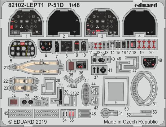 P-51D エッチングパーツセット 1/48