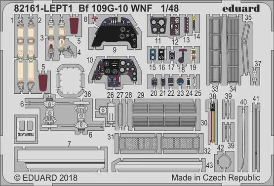 Bf 109G-10 WNF  PE-set 1/48