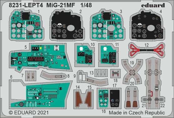 MiG-21MF PE-set 1/48  - 1