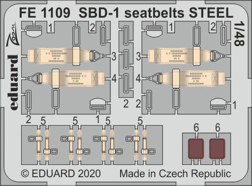 SBD-1 seatbelts STEEL 1/48