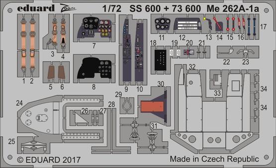 Me 262A-1a 1/72  - 1