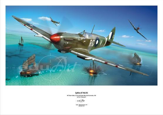 Plakát - Spitfire Mk.VIII