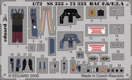 BAC Lightning F.6/F.2A S.A. 1/72