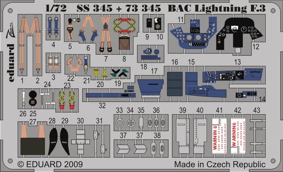 BAC Lightning F.3 S.A. 1/72