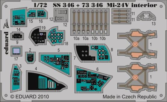 Mi-24V Hind interior S.A. 1/72