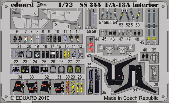 F/A-18A interior S.A. 1/72