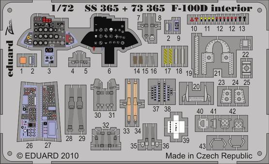 F-100D interior S.A. 1/72