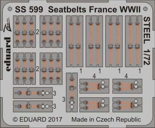 Upínací pásy Francie 2.sv.v. OCEL 1/72