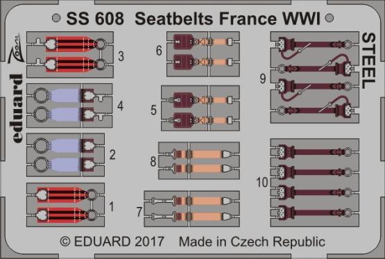 Upínací pásy Francie 1.sv.v. OCEL 1/72