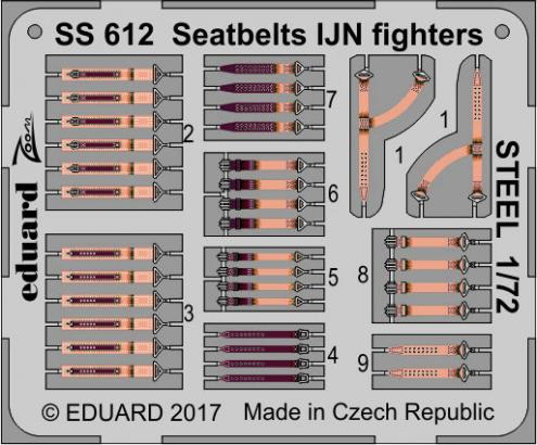 Seatbelts IJN fighters STEEL 1/72