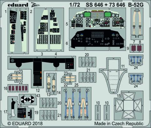 B-52G интерьер 1/72  - 1