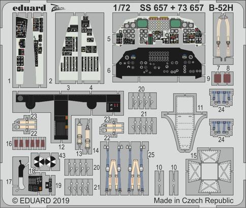B-52H интерьер 1/72  - 1