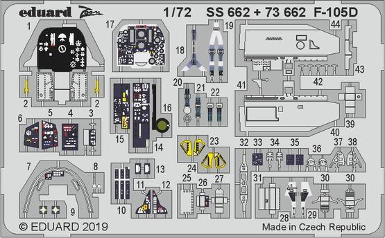 F-105D interiér 1/72  - 1