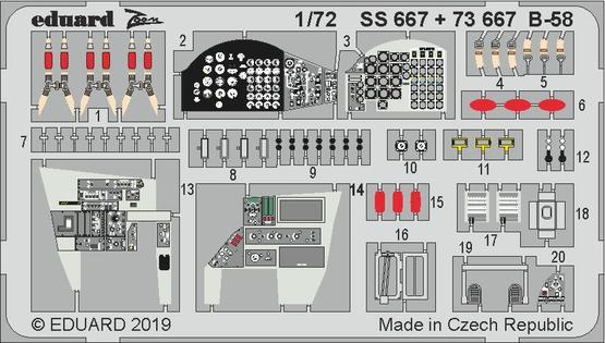 B-58 интерьер 1/72  - 1