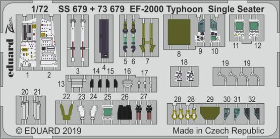 EF-2000 Typhoon Single Seater 1/72  - 1