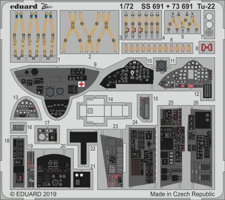 Tu-22 interior 1/72  - 1