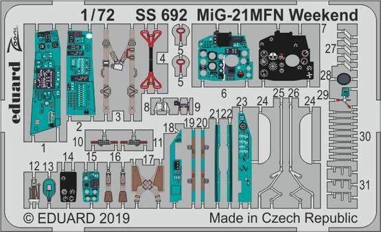 MiG-21MFN Weekend 1/72