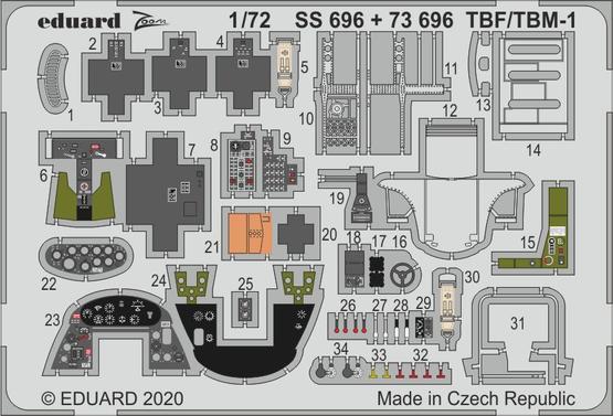 TBF/TBM-1 Avenger 1/72  - 1