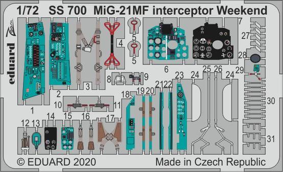 MiG-21MF interceptor Weekend 1/72