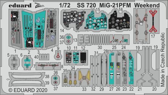 MiG-21PFM Weekend 1/72