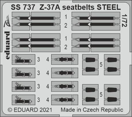 Z-37A seatbelts STEEL 1/72