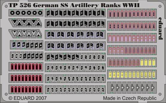 German SS Artilery Ranks WWII 1/35