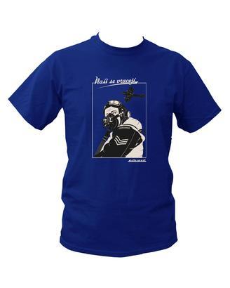 "T-shirt Spitfire pilot ""Nasi se vraceji"" (XL)  - 1"