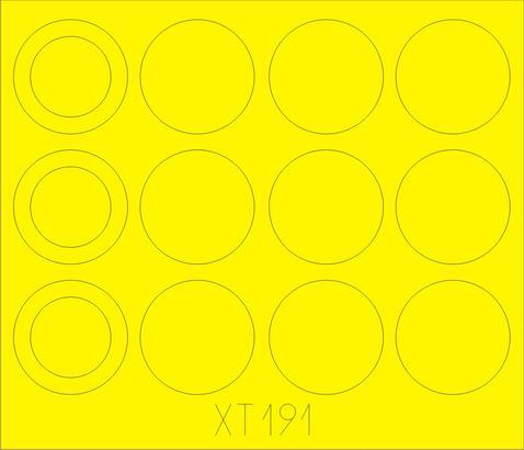 Merkava IIID wheel masks 1/35
