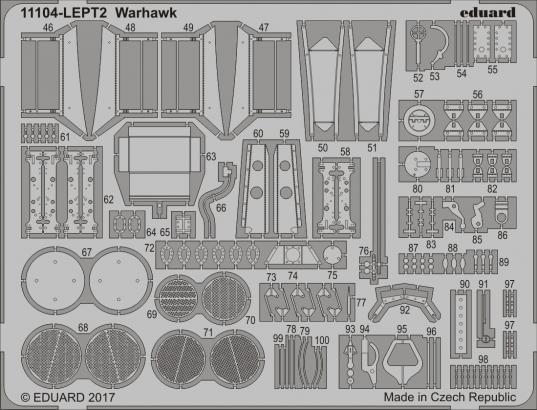 P-40 Warhawk PE-set 1/32  - 2
