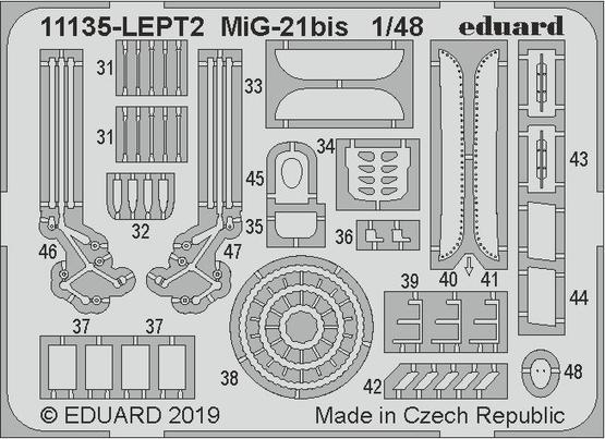 MiG-21bis PE-set 1/48  - 2