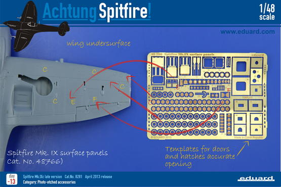 Spitfire Mk.IX surface panels 1/48  - 2