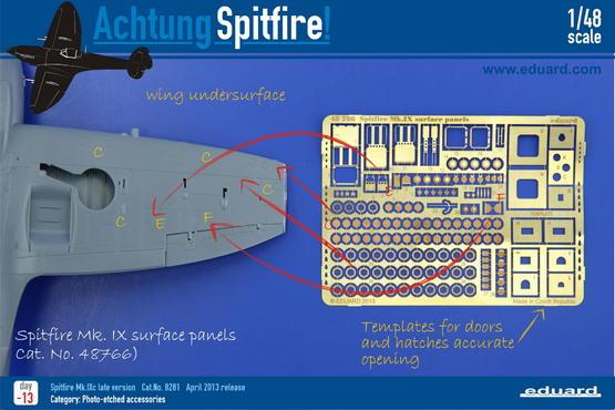 Spitfire Mk.IX povrchové panely 1/48  - 2