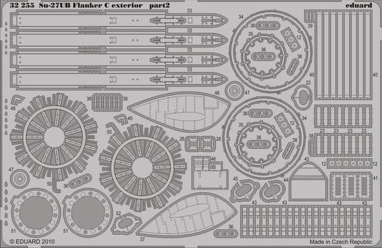 Su-27UB Flanker C exterior 1/32  - 2