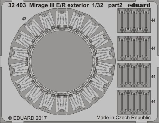 Mirage III E/R exteriér 1/32  - 2