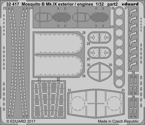 Mosquito B Mk.IX exterior / engines 1/32  - 2