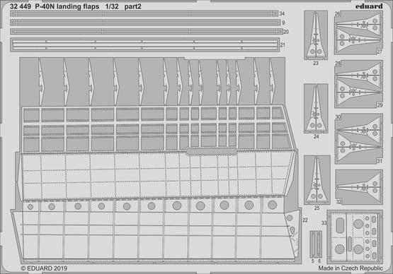 P-40N ランディングフラップ 1/32  - 2
