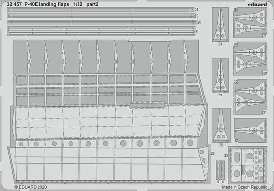 P-40E landing flaps 1/32  - 2