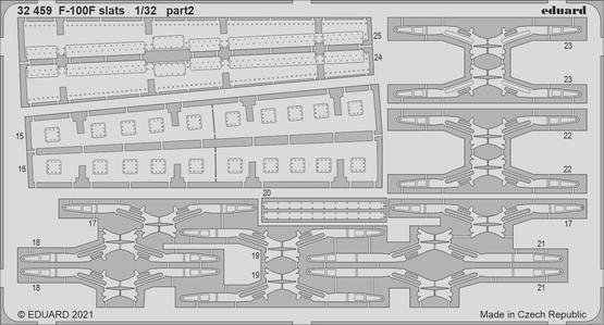 F-100F slats 1/32  - 2