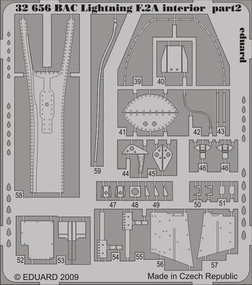 BAC Lightning F.2A interior S.A. 1/32  - 2
