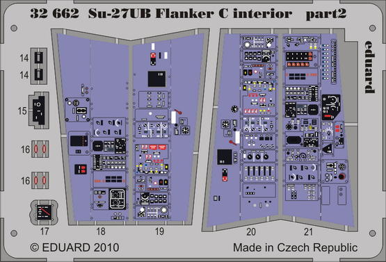 Su-27UB Flanker C interior S.A. 1/32  - 2
