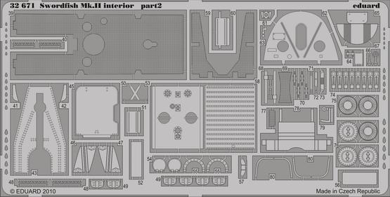 Swordfish Mk.II interior S.A. 1/32  - 2