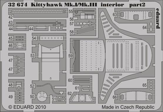 Kittyhawk Mk.I/Mk.III interior S.A. 1/32  - 2