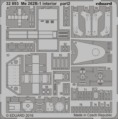 Me 262B-1 интерьер 1/32  - 2